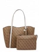 La Martina  Crossbody Bag aus Leder Modell 'Marisol' - Cognac