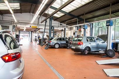 Das Nutzfahrzeugzentrum im Autohaus von Keitz