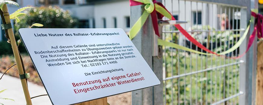 ersten rollatorpark in nordrhein westfalen. Black Bedroom Furniture Sets. Home Design Ideas