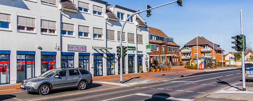 Einkaufen in Rommerskirchen: Bahnstraße am Zentrum