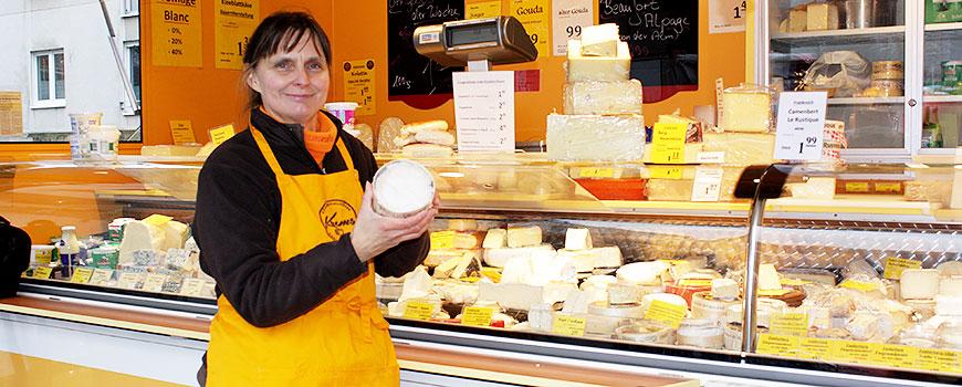 Wochenmarkt Hilden: Exklusiver Käse bei Familie Krems