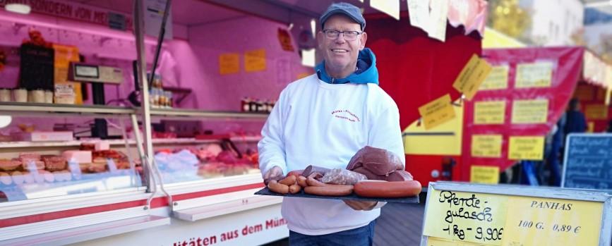 Fleisch und Wurst vom Pferd – immer frisch bei Christian Heift vom Wochenmarkt Hilden