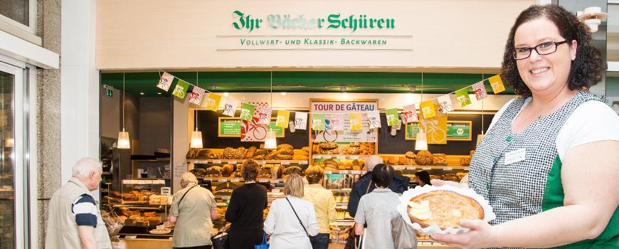 Ihr Bäcker Schüren Hilden: Tour de Gâteau mit eigenen Tortenkreationen
