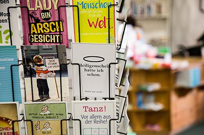 Postkarten und Geschenkartikel der City Buchhandlung