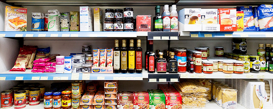 Getränke Shop Hilden bietet auch griechische Spezialitäten und Lebensmittel