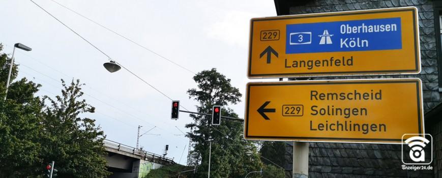 B229 wird saniert: Städte Langenfeld und Solingen kooperieren