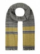 Barts  Schal mit Hahnentritt-Dessin - Gelb