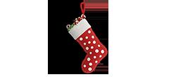 Weihnachten Socke rot