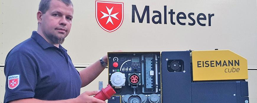Leistungsstarker Stromerzeuger zur Notfallversorgung steht bereit