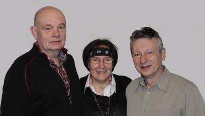 Harold Augustin, Lidia B. Gordon und Jerzey Laciak zeigen zum dritten Mal 'Augenblicke'. Foto: Anna Laciak