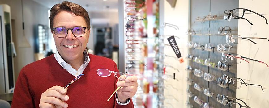 Optik Hanraths: Switch it Brillen nur für kurze Zeit
