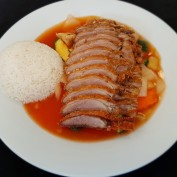 Entenfleisch mit Reis