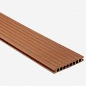 Terrassendiele 'Artwood Classic' WPC marone 200 x 14,5 x 2,1 cm