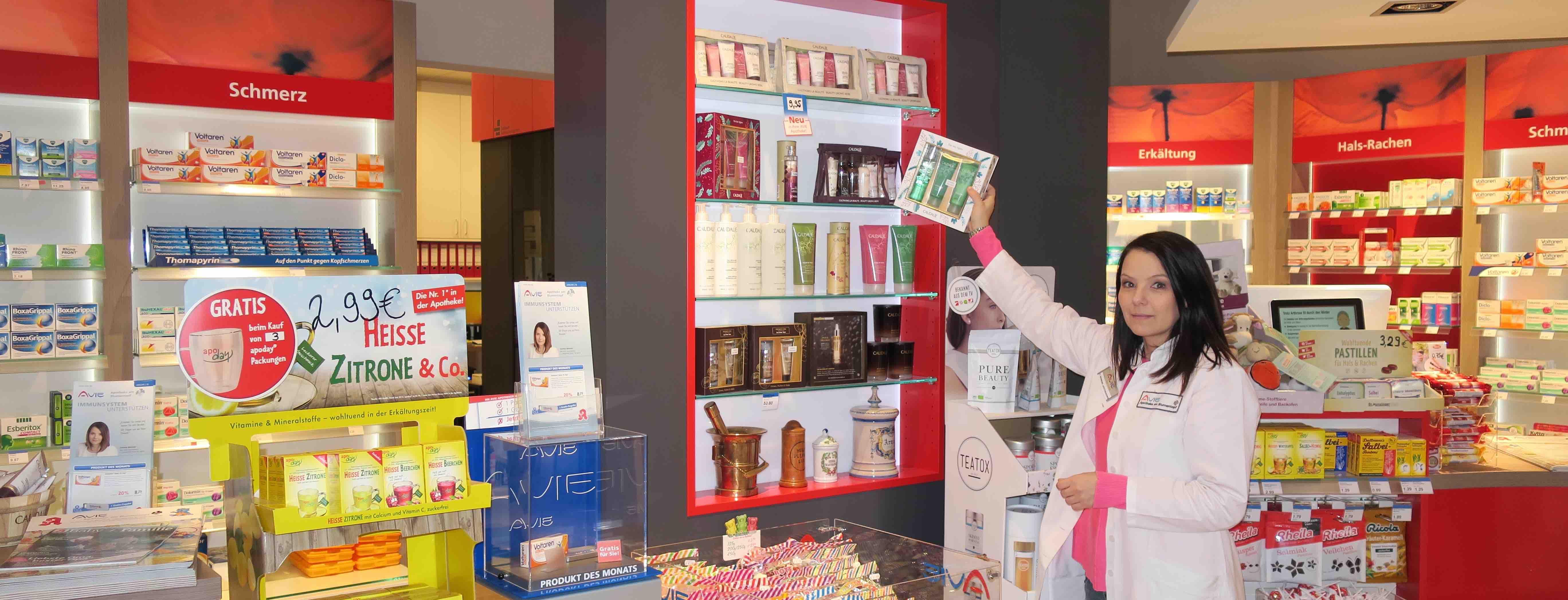 Corinna Behrend von der Avie Apotheke am Blumentopf gibt Gesundheitstipps