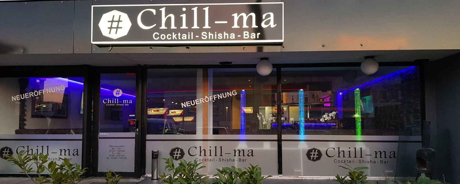 # CHILL−ma, die neue Cocktail − Shisha − Bar in Langenfeld