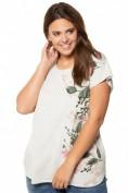T-Shirt, Blütenmotiv, Oversized, Elasthan