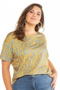 Shirt, Color-Leo oversized, Halbarm