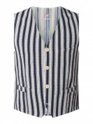 CG - Club of Gents  Slim Fit Weste mit Streifenmuster Modell 'Mosley' - Marineblau