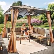 Gardiola Lounge-Set VICTORIA - anthrazit-teakfarben