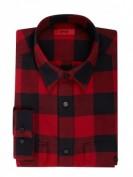 Hugo  Comfort Fit Flanellhemd aus Baumwolle - Rot