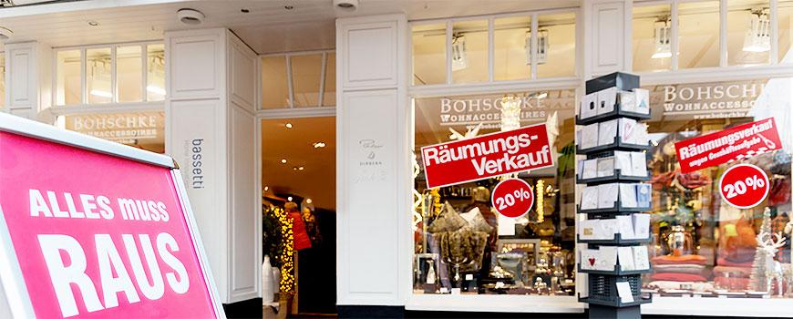 Dekoration Hilden: Räumungsverkauf bei Bohschke Wohnaccessoires