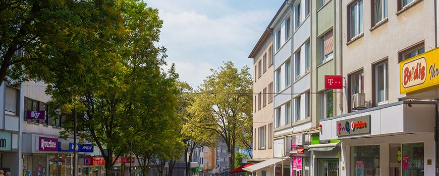 Einkaufen in Solingen Mitte: (Obere) Hauptstraße