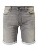 Jack & Jones  Regular Fit Shorts aus Sweat Denim - Hellgrau