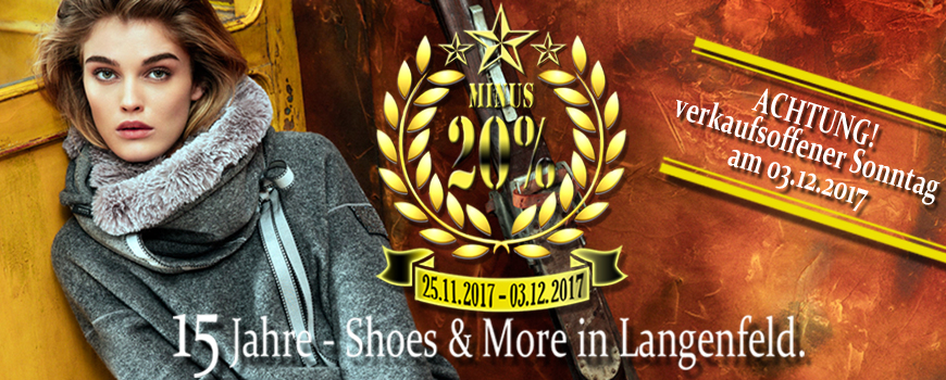 15 Jahre Shoes and More Langenfeld: Danke!