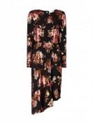 JUST FEMALE  Kleid mit floralen Prints in schimmernder Optik  - Marineblau
