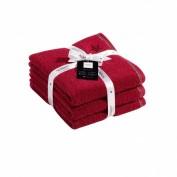 VOSSEN Handtuch-Set rubin 3 Stück
