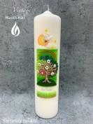 Kerze Baum grün  E-21