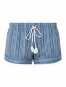 Skiny Shorts Summer Loungewear -  Loungeshorts mit Streifenmuster - Bleu