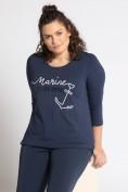 Shirt, maritime Stickerei, Classic, Pailletten, 3/4-Arm
