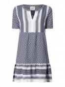 CECILIE COPENHAGEN  Kleid mit Kufiyamuster  - Dunkelblau