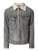 Levi's®  Vintage Fit Sherpa Trucker Jacket aus Baumwolle - Hellgrau