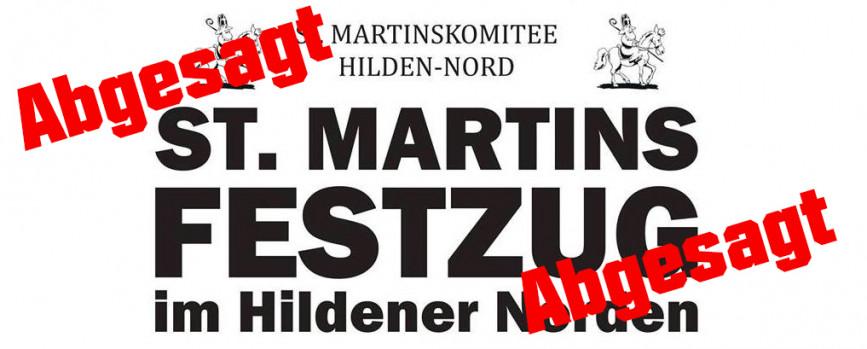 Absage des St. Martinszug im Hildener Norden