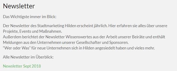 Newsletter-Stadtmarketing
