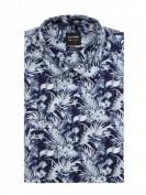 OLYMP Level Five  Slim Fit Business-Hemd aus Baumwolle - Marineblau
