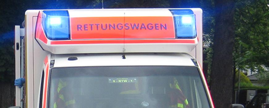 Unfall auf Hülsenstraße: Motorradfahrer schwer verletzt