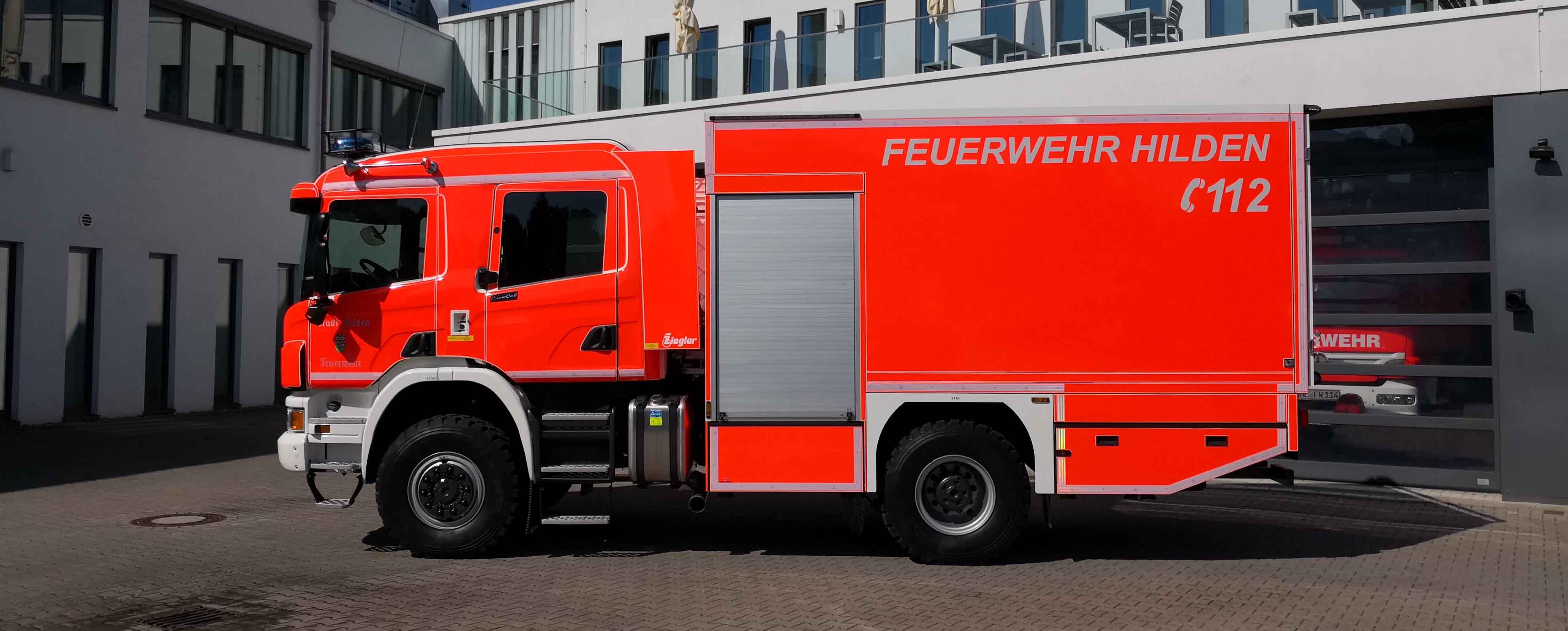 Feuertaufe für neuen Gerätewagen der Feuerwehr Hilden