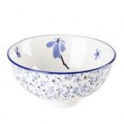 Schale China, Anne, Blume klein, blau/weiß, 12 cm