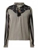 CECILIE COPENHAGEN  Blusenshirt mit Kufiya-Muster - Sand