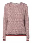 Eterna  Blusenshirt mit Allover-Muster - Rot