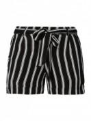 Noisy May  Shorts aus Viskose mit Gürtel  - Schwarz
