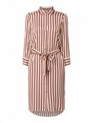 InWear  Blusenkleid aus Viskose mit Streifenmuster - Rostrot