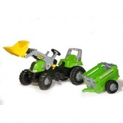 Rolly Toys Junior Trettraktor mit Lader und Anhänger