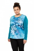 Shirt, Schneeblumen-Motiv, Classic, Langarm