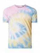 MCNEAL  Regular Fit T-Shirt in Batik-Optik - Neon Gelb