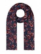 Tommy Hilfiger Wildflower Print Scarf -  Schal aus Modal - Marineblau
