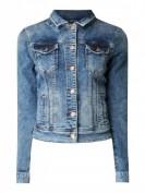 LTB  Slim Fit Jeansjacke mit Pattentaschen  - Blau